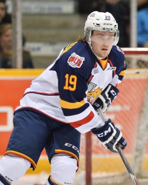 Rasmus Andersson of the Barrie Colts. Photo by Terry Wilson/OHL Images.