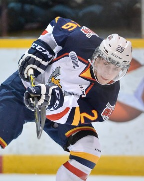 Andrew Mangiapane of the Barrie Colts. Photo by Terry Wilson/OHL Images.