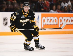Sarnia selected Czech star Pavel Zacha 1st overall at the 2014 CHL Import Draft. (OHL Images)
