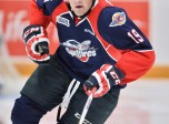Christian Fischer of the Windsor Spitfires. Photo by Terry Wilson / OHL Images.