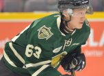 Cliff Pu of the London Knights. Photo by Terry Wilson / OHL Images.