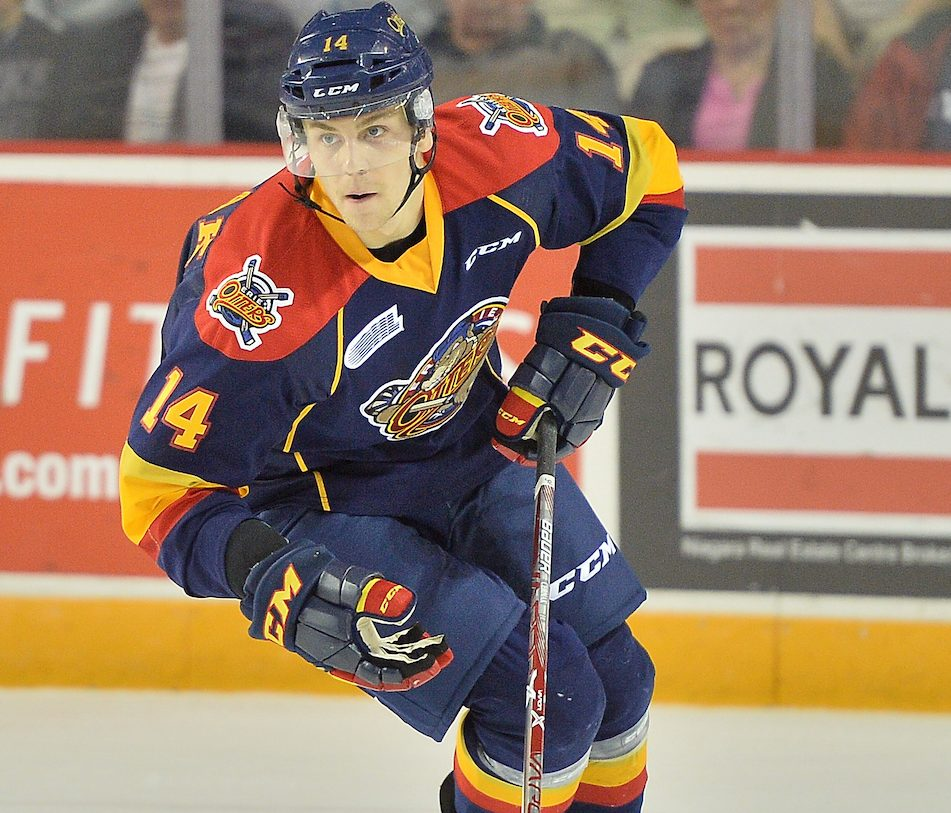 Erik Cernak of the Erie Otters. Photo by Terry Wilson / OHL Images.