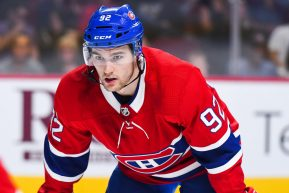 MONTREAL, QC - SEPTEMBER 20: Montreal Canadiens left wing Jonathan Drouin (92) waits for faceoff during the Washington Capitals versus the Montreal Canadiens preseason game on September 20, 2017, at Bell Centre in Montreal, QC (Photo by David Kirouac/Icon Sportswire)
