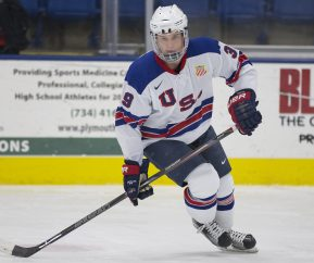 Oliver Wahsltrom from the USNTDP. Photo by Rena Laverty/USA Hockey