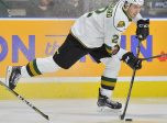Evan Bouchard of the London Knights. Photo by Terry Wilson/OHL Images.