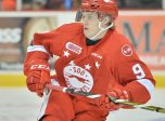 Rasmus Sandin of the Sault Ste. Marie Greyhounds. Photo by Terry Wilson / OHL Images.