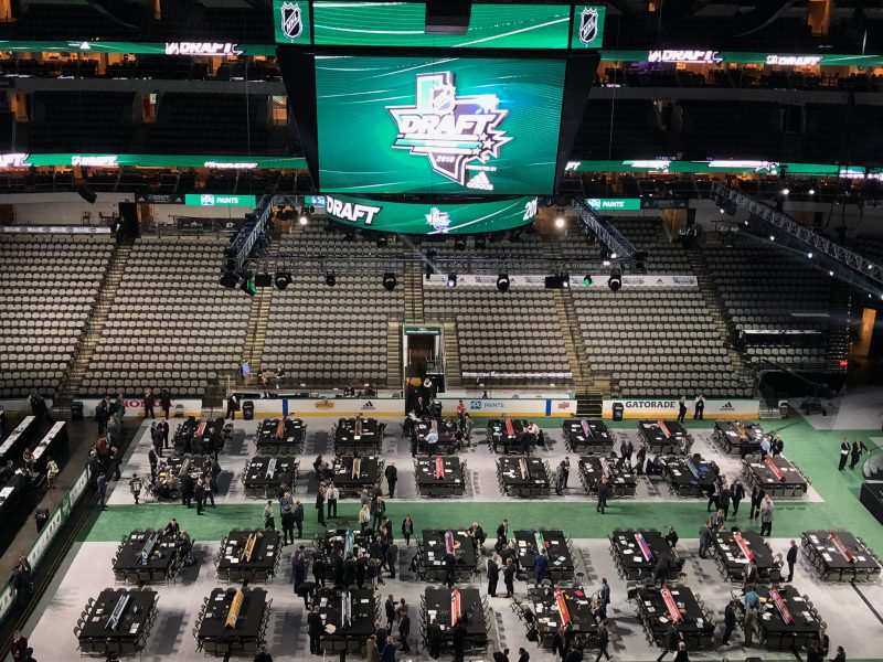 2018 NHL Draft floor. Photo by Tom Dorsa