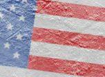 American Flag on ice