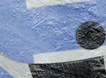Finnish flag on ice