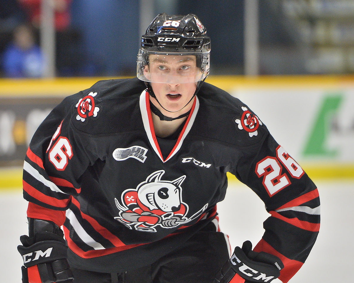 Philip Tomasino of the Niagara IceDogs. Photo by Terry Wilson / OHL Images.