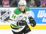 Luke Evangelista of the London Knights. Photo by Luke Durda/OHL Images