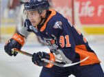 Evgeniy Oksentyuk of the Flint Firebirds. Photo by Terry Wilson / OHL Images.