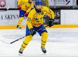 190207Sveriges Mateusz Szurowski under U17 landskampen i ishockey mellan Sverige och Ryssland den 7 februari 2019 i Tranås. Foto: Jonas Ljungdahl / BILDBYRÅN / Kod JO / Cop 144