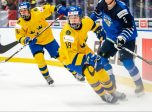 Alexander Holtz and Lucas Raymond of Sweden against Santeri Tatakka of Finland during the 2020 IIHF World Junior Championship bronze medal game between Sweden and Finland on January 5, 2020 in Ostrava. Photo: Simon Hastegård / BILDBYRÅN /